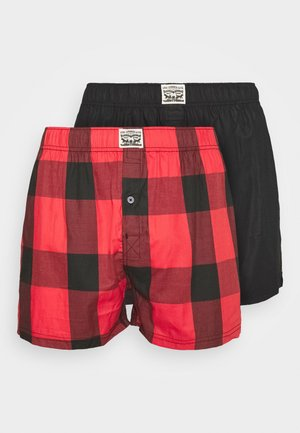 MEN PREMIUM CHECK 2 PACK - Bokserit - red