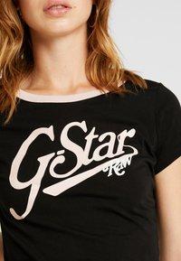 G-Star - GRAPHIC LOGO SLIM - Camiseta estampada - black - 5