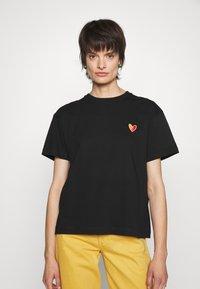 PS Paul Smith - WOMENS - Jednoduché triko - black - 0