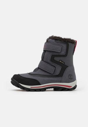 CHILLBERG - Winter boots - medium grey/red