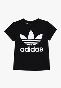 adidas Originals - TREFOIL - T-shirt imprimé - black/white - 0