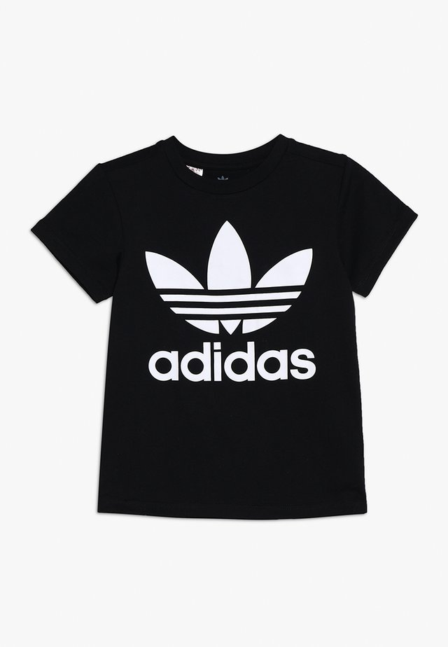TREFOIL - T-shirt med print - black/white