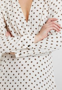 Topshop - EXTURED DOT DRESS - Day dress - cream - 5