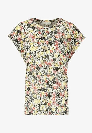 WITH FLORAL PRINT - Print T-shirt - buttercup