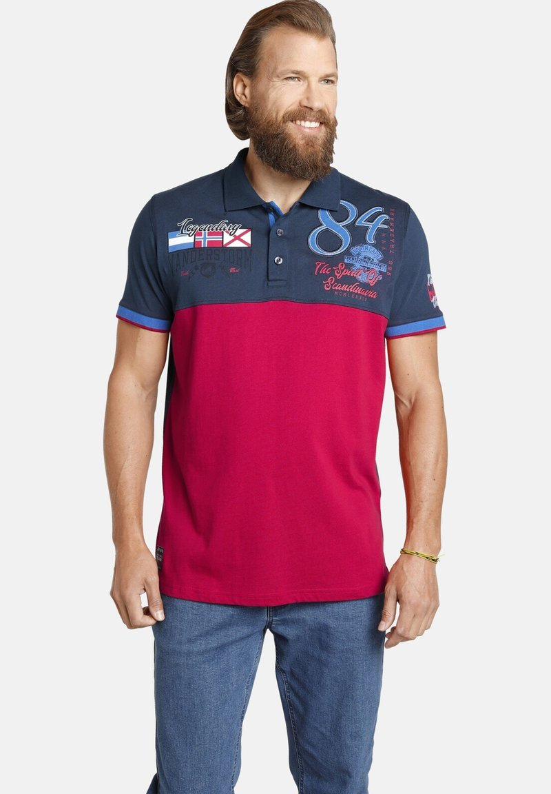 Jan Vanderstorm - Polo shirt - dunkelblau rot