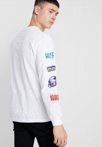 HUF - MEMORIES TEE - Long sleeved top - white - 2