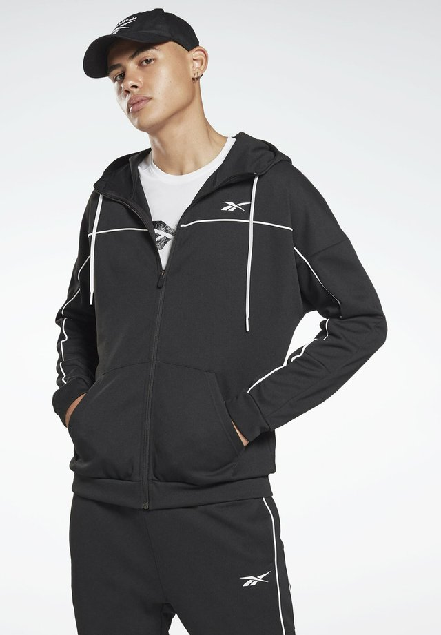 WORKOUT READY - Zip-up hoodie - black