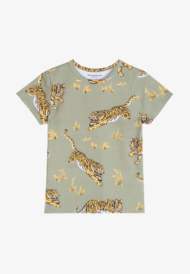CLASSIC TIGER - T-shirt con stampa - khaki green