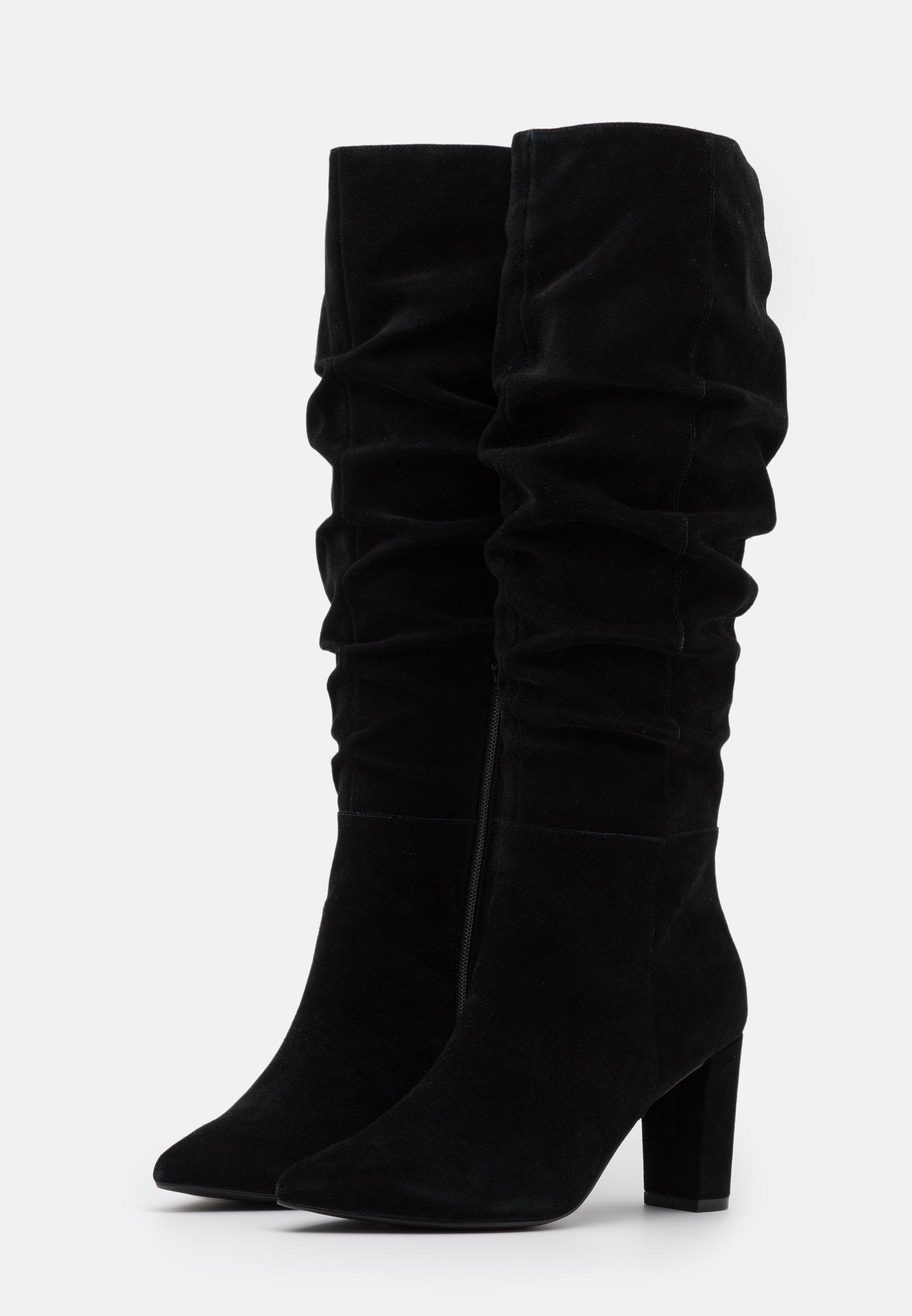 Anna Field LEATHER High Heel Stiefel black/schwarz