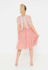 BEAUUT - Áčková sukně - dusty pink - 2
