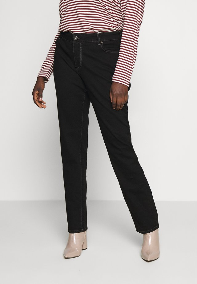 LONG EMILY - Jeansy Relaxed Fit - black
