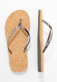 flip*flop - NOBLE CORGI - T-bar sandals - steel/dark silver - 3