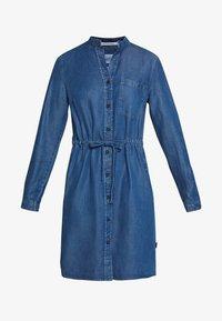 Marc O'Polo DENIM - DRESS FEMININE PATCHED POCKET - Vestito di jeans - february blue dress - 5