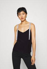 Calvin Klein Jeans - LOGO STRAP TANK - Top - ck black - 0