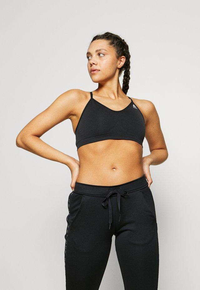 SEAMLESS SOFT SPORTS BRA - Sports bra - black