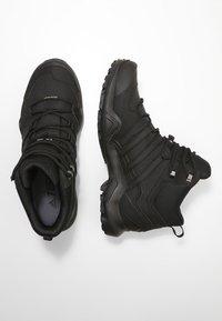 adidas Performance - TERREX SWIFT R2 MID GTX GORETEX HIKING SHOES - Hiking shoes - core black - 1