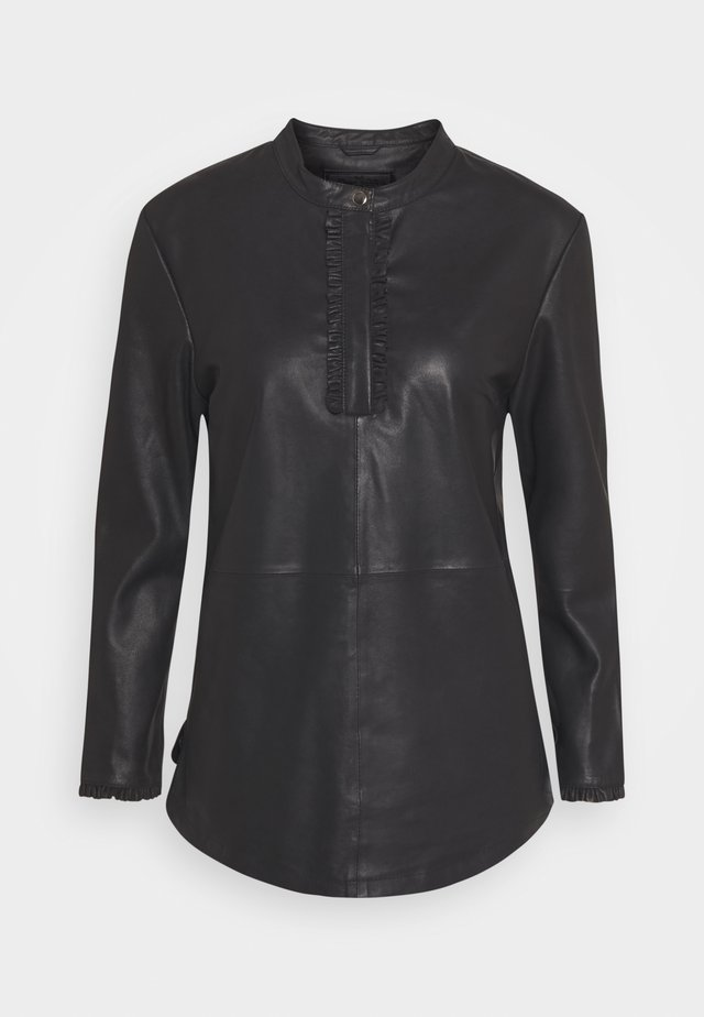 FRILLS - Blouse - black