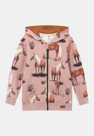BEAUTY HORSES - Zip-up sweatshirt - pink