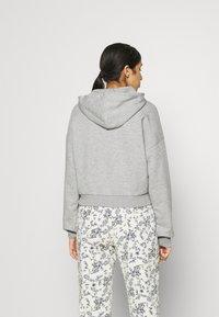 NU-IN - CROPPED HOODIE - Sweatshirt - grey marl - 2