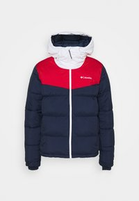 collegiate navy/mountain red/white