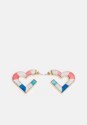 PCLAMYA EARRINGS - Náušnice - gold-coloured/pink/blue