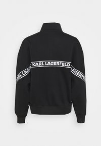 KARL LAGERFELD - LOGO TAPE ZIP-UP - Sweatjacke - black - 7
