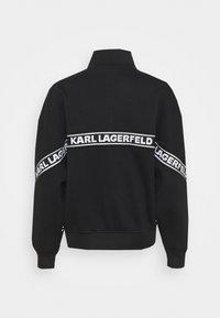 KARL LAGERFELD - LOGO TAPE ZIP-UP - Mikina na zip - black - 7