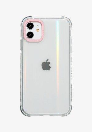 MINIMAL PINK SHOCK CASE - IPHONE XR / 11 - Telefoonhoesje - transparent