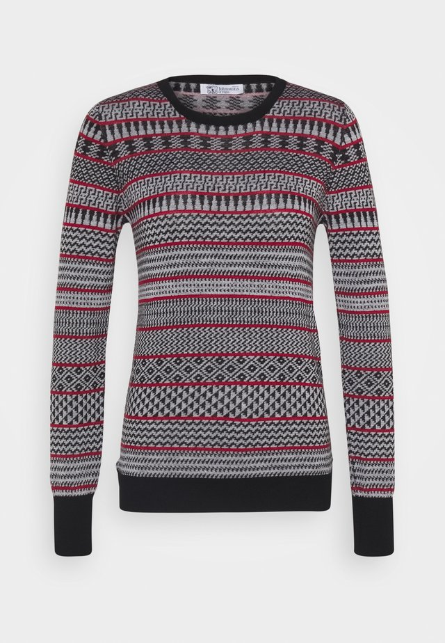 MEARA FAIRISLE - Pullover - black/white/classic red