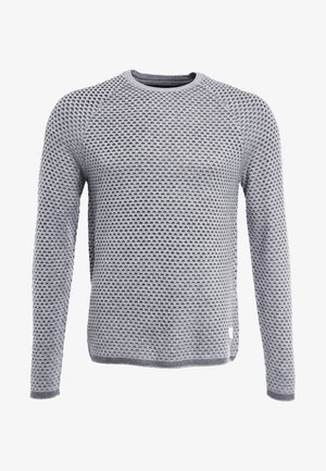 Strickpullover - mottled grey/anthracite