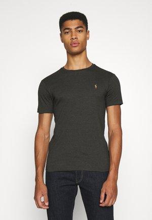 CUSTOM SLIM SOFT COTTON TEE - T-shirt basic - dark charcoal heather