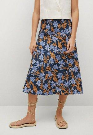 CRIS-H - Áčková sukně - azul marino oscuro