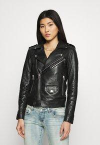 Deadwood - RIVER ORIGINAL - Leather jacket - black - 0