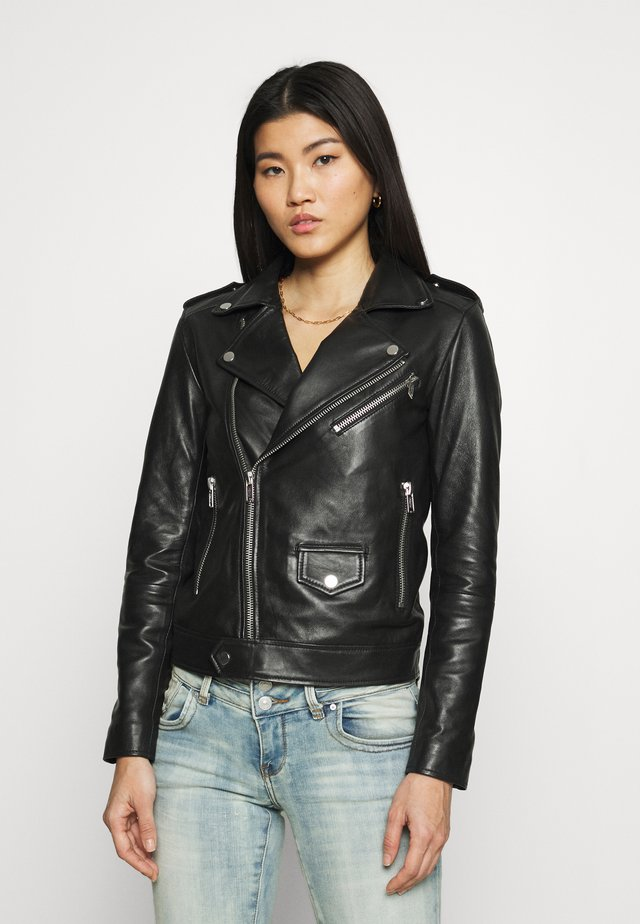 RIVER ORIGINAL - Leather jacket - black