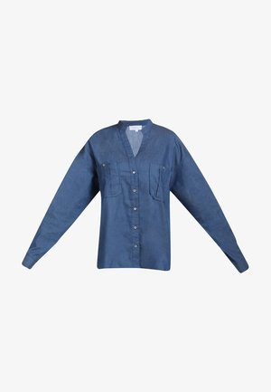 Button-down blouse - denim