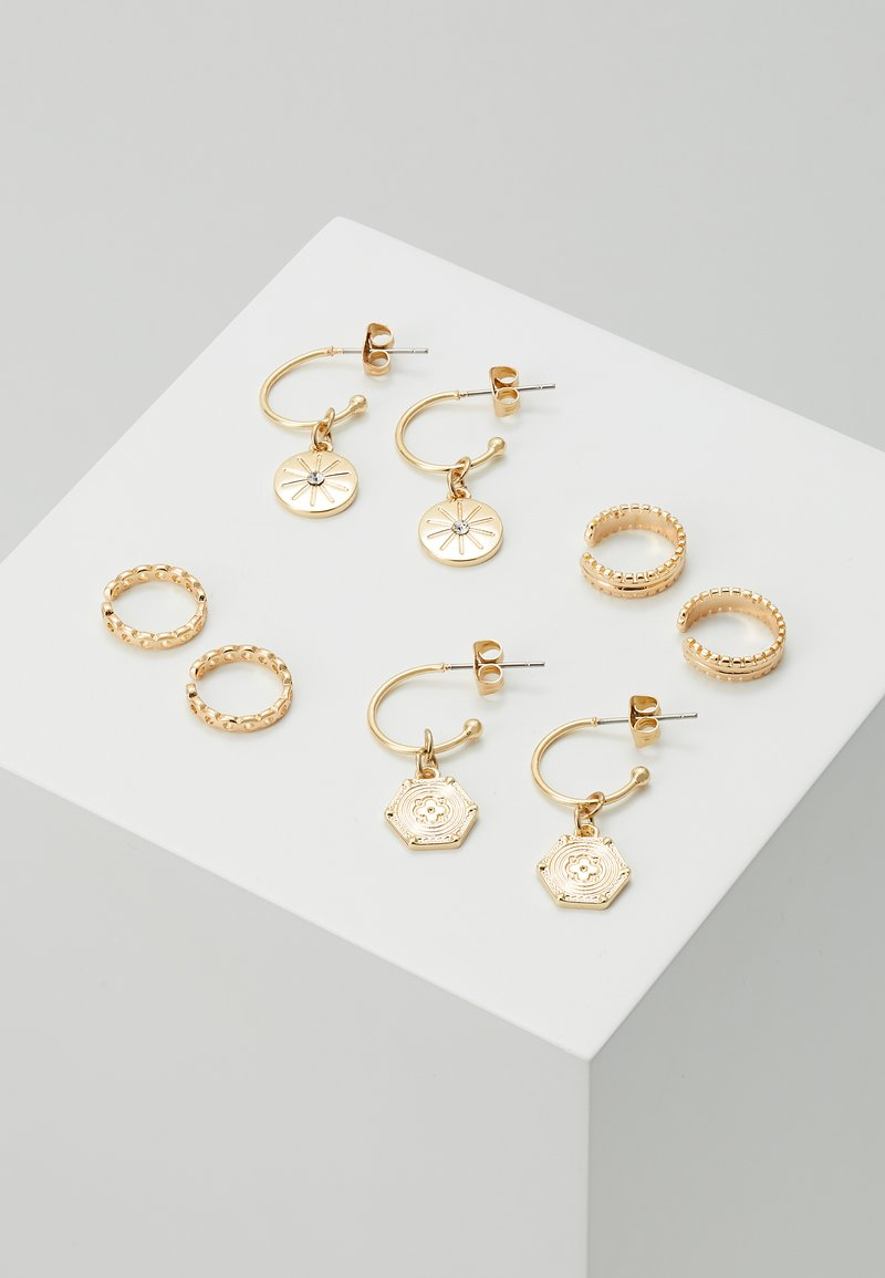 Pieces - PCGABRILY EARRINGS 4 PACK - Pendientes - gold-coloured