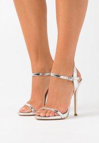 BEBO - SPARRA - High heeled sandals - silver metallic - 0