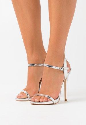 SPARRA - Sandály na vysokém podpatku - silver metallic