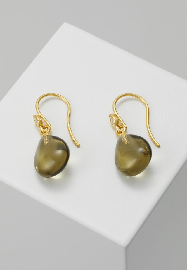PRIMA BALLERINA EARRINGS - Earrings - gold-coloured/olive