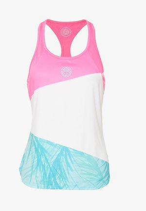 FLEUR TECH TANK - Top - pink/white/mint