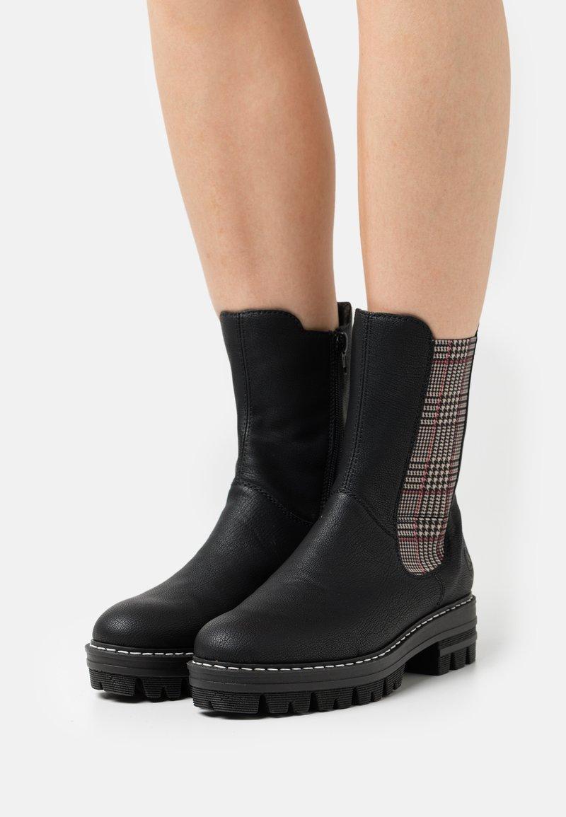 Rieker - Platform ankle boots - schwarz