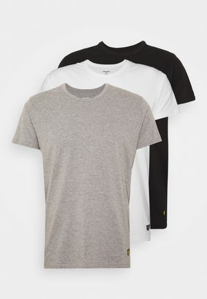 MAXWELL 3 PACK - Pyjama top - bright white/grey marl/black