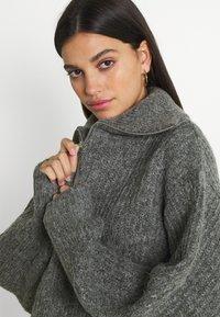 Gina Tricot - LESLIE - Jumper - mid grey melange - 3