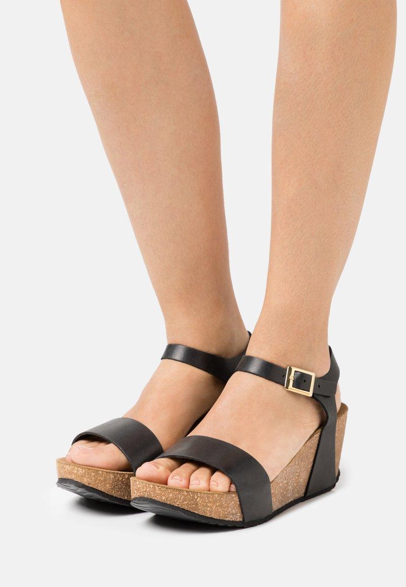 Copenhagen Shoes - CINDY - Platform sandals - black