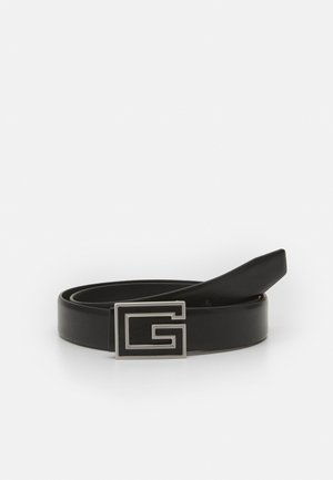 BELT SQUARE LOGO - Ceinture - black