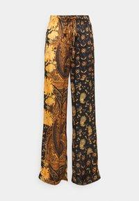 The Kooples - PANTS - Trousers - black/orange - 0