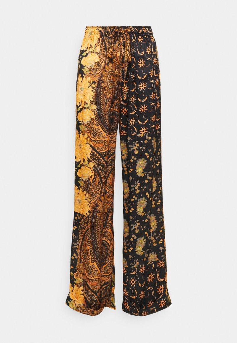 The Kooples - PANTS - Trousers - black/orange