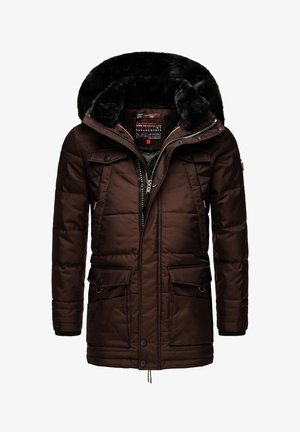 LUAAN - Winter coat - brown melange