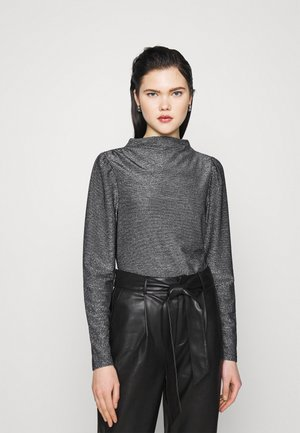 VMSILVIA GLITTER  - Long sleeved top - black/silver