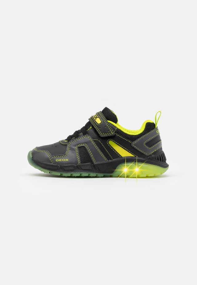 SPAZIALE BOY - Sneakers - black/lime